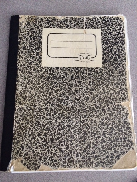 Photo // Charlotte Gibson Cadeem Gibbs' composition notebook from his first sentence inside Rikers Island.